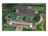Champaign-Urbana, Illinois, University of Illinois, Aerial View of Memorial Stadium Posters by  Lantern Press
