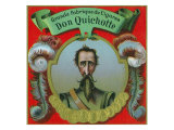 Don Quichotte Brand Cigar Box Label Posters