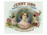 Jenny Lind Brand Cigar Box Label Posters