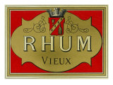 Rhum Vieux Rum Label Prints by  Lantern Press