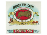 Hook'em Cow Brand Cigar Box Label Posters