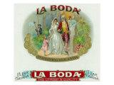 La Boda Brand Cigar Box Label Prints by  Lantern Press