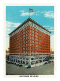 Peoria, Illinois, Exterior View of the Jefferson Building Posters by  Lantern Press