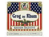 Grog au Rhum Boisson Digestive Rum Label Art by  Lantern Press