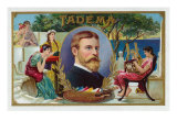 Tadema Brand Cigar Box Label Print