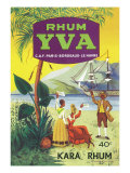Rhum Yva Brand Rum Label Print by  Lantern Press