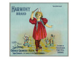 San Dimas, California, Harmony Brand Citrus Label Art by  Lantern Press