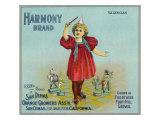 San Dimas, California, Harmony Brand Citrus Label Art