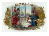 Otello Brand Cigar Box Label, Opera by Verdi based on Shakespeare's Othello Art