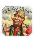 Be Gorrah Brand Cigar Box Label Print
