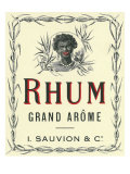 Rhum Grand Arome Rum Label Prints by  Lantern Press