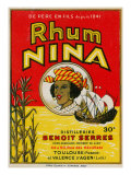 Rhum Nina Benoit Serres Brand Rum Label Posters by  Lantern Press