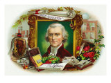 Thomas Jefferson Brand Cigar Inner Box Label Posters