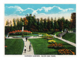 Peoria, Illinois, Glen Oak Park View of the Sunken Garden Posters by  Lantern Press