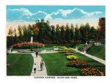 Peoria, Illinois, Glen Oak Park View of the Sunken Garden Posters