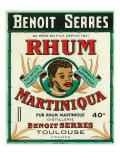 Toulouse, France, Rhum Martiniqua Benoit Serres Brand Rum Label Poster