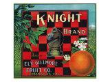 Los Angeles, California, Knight Brand Citrus Label Prints