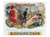 Bowling Club Brand Cigar Box Label, Bowling Poster