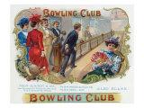 Bowling Club Brand Cigar Box Label, Bowling Poster by  Lantern Press