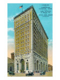 Peoria, Illinois, Exterior View of the Commerical National Bank Building Poster by  Lantern Press