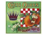 Los Angeles, California, Chess Queen Brand Citrus Label Prints