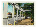 Peoria, Illinois, Bradley Park View of the Pompeian Garden Posters by  Lantern Press