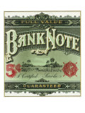 Bank Note Brand Cigar Outer Box Label Prints