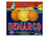 San Francisco, California, Demarco Brand Citrus Label Posters