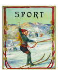 Sport Brand Cigar Box Label, Snow Skiing Posters by  Lantern Press