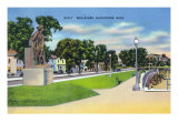 Gloucester, MA, View of Stacy Boulevard, Man at the Wheel Statue Posters