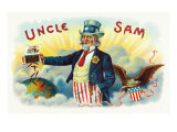 Uncle Sam Brand Cigar Inner Box Label Prints by  Lantern Press
