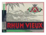 Rhum Vieux Rum Label Print by  Lantern Press