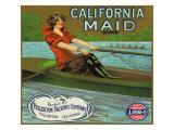 Fullerton, California, California Maid Brand Citrus Label Art