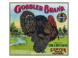Exeter, California, Gobbler Brand Citrus Label Print by  Lantern Press