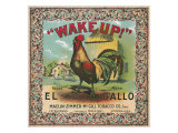 Petersburg, Virginia, Wake Up Brand Tobacco Label Print