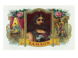 Samson Brand Cigar Inner Box Label Art