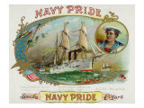 Navy Pride Brand Cigar Box Label Posters by  Lantern Press