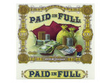 Paid in Full Brand Cigar Box Label Prints