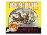 Redlands, California, Ben-Hur Brand Citrus Label Posters