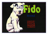 Orosi, California, Fido Brand Citrus Label Prints