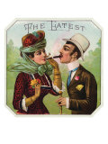 The Latest Brand Cigar Box Label, Woman Smoking Prints by  Lantern Press