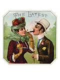 The Latest Brand Cigar Box Label, Woman Smoking Prints