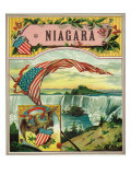 Niagara Brand Cigar Box Label Print by  Lantern Press