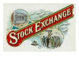 Stock Exchange Brand Cigar Box Label Prints by  Lantern Press