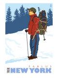 Snow Hiker, Fablus, New York Poster by  Lantern Press