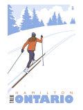 Cross Country Skier, Hamilton, Ontario Prints by  Lantern Press