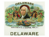 Delaware Brand Cigar Box Label Prints