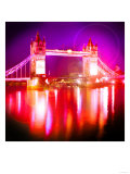 Tower Bridge Night, London Posters by Tosh 