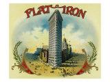Flat Iron Brand Cigar Box Label Posters