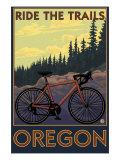 Oregon, Mountain Bike, Ride the Trails Print